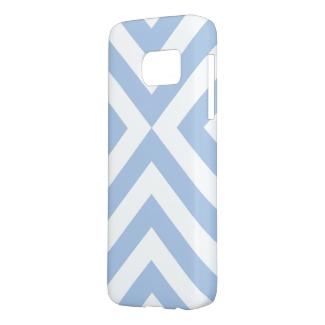 Pale Blue & White Chevrons Samsung Galaxy S7 Case