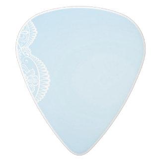 pale blue,white lace,template,add text monogram,tr white delrin guitar pick