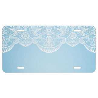 pale blue,white lace,template,add text monogram,tr license plate