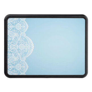 pale blue,white lace,template,add text monogram,tr trailer hitch cover