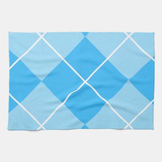 Pale Blues Argyle Kitchen Towel