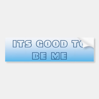 Pale Bluie Two Tone Bumper Sticker
