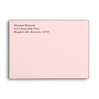 Pale Blush Rose Pink 5x7 Return Address Envelopes