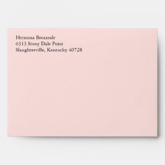 Pale Blush Rose Pink 5x7 Return Address Envelopes