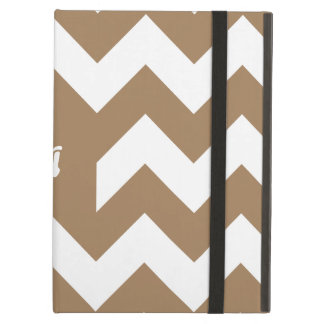 Pale Brown and White Zigzag Monogram iPad Air Case