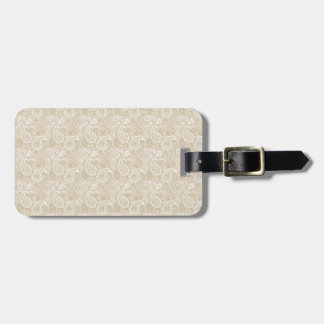 Pale Brown Paisley Bag Tag