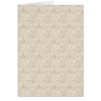 Pale Brown Paisley Card