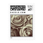 PALE CHAMPAGNE Rose Bouquet Wedding Stamp SMALL