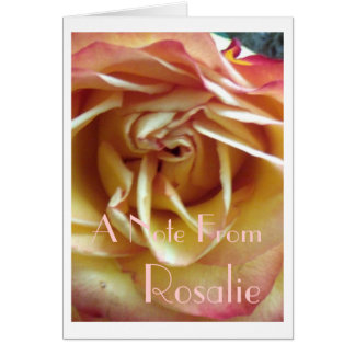 Pale Cherry Rose Card
