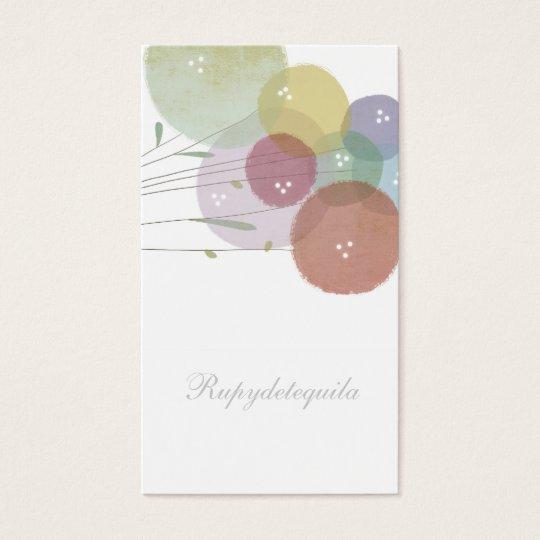 Pale colors Business Card