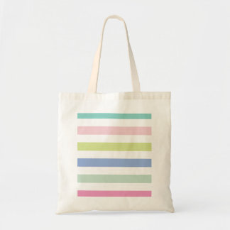 Pale Coloured Stripes Bag