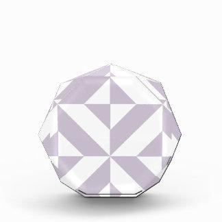 Pale Cool Grape Geometric Deco Cube Pattern Award