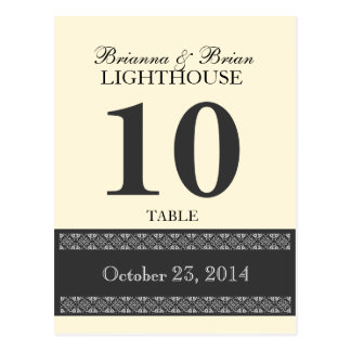 PALE CORNSILK Wedding Table Number Card Reception