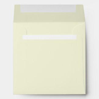 Pale Daffodil Yellow Envelope