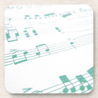 Pale Faded Blue Sheet Music Photography Drink Coaster