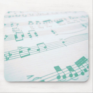 Pale Faded Blue Sheet Music Photography Mouse Pad