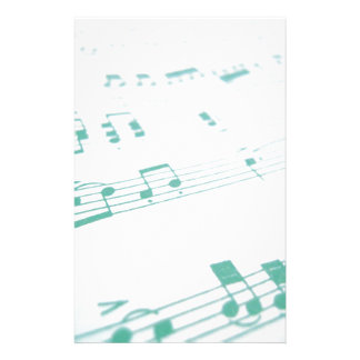 Pale Faded Blue Sheet Music Photography Stationery