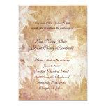 "Pale Ghost Leaves Wedding Invitations 5"" X 7"" Invitation Card"