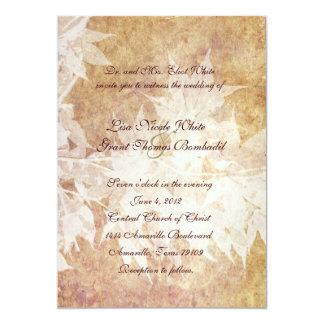 Pale Ghost Leaves Wedding Invitations
