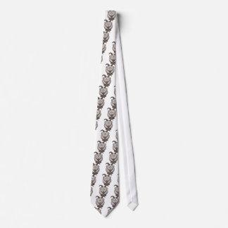 Pale goat neck tie