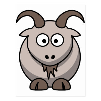Pale goat postcard