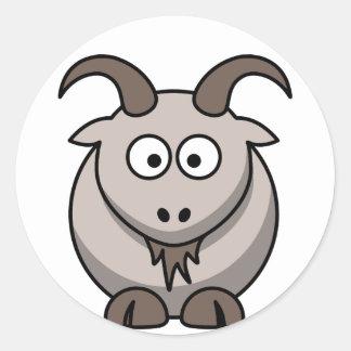 Pale goat round stickers