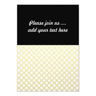 Pale Gold and White Polka Dots Custom Invitations