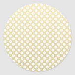 Pale Gold and White Polka Dots Sticker