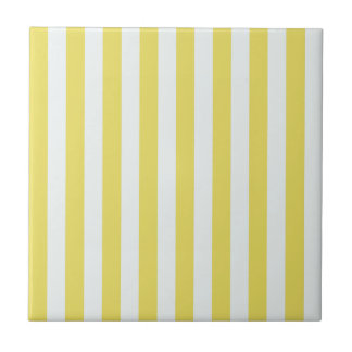 Pale Gold and White Stripes by Shirley Taylor Ceramic Tile