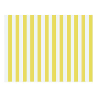 Pale Gold And White Stripes Postcard