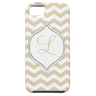 Pale Gold Chevron With Your Choice Of 2nd Color iPhone SE/5/5s Case