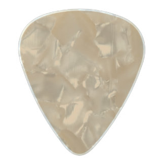 Pale Gold Pearl Celluloid Guitar Pick