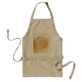 Pale gold planet adult apron