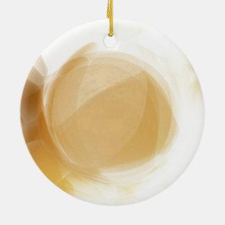 Pale gold planet ceramic ornament