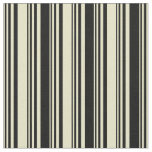 [ Thumbnail: Pale Goldenrod and Black Colored Pattern Fabric ]