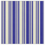 [ Thumbnail: Pale Goldenrod and Blue Lines/Stripes Pattern Fabric ]