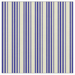 [ Thumbnail: Pale Goldenrod and Blue Pattern Fabric ]
