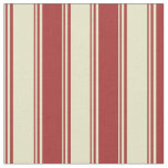 [ Thumbnail: Pale Goldenrod and Brown Colored Stripes Pattern Fabric ]