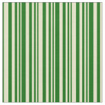 [ Thumbnail: Pale Goldenrod and Dark Green Colored Pattern Fabric ]
