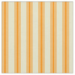 [ Thumbnail: Pale Goldenrod and Dark Orange Lines Fabric ]