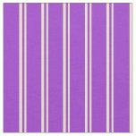 [ Thumbnail: Pale Goldenrod and Dark Orchid Stripes Fabric ]