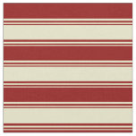 [ Thumbnail: Pale Goldenrod and Dark Red Colored Pattern Fabric ]