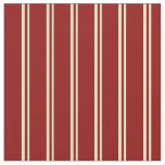 [ Thumbnail: Pale Goldenrod and Dark Red Colored Stripes Fabric ]