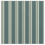 [ Thumbnail: Pale Goldenrod and Dark Slate Gray Colored Lines Fabric ]