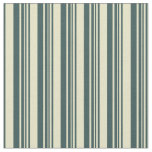 [ Thumbnail: Pale Goldenrod and Dark Slate Gray Stripes Fabric ]