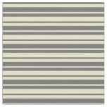 [ Thumbnail: Pale Goldenrod and Dim Grey Colored Pattern Fabric ]