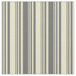 [ Thumbnail: Pale Goldenrod and Dim Grey Lines Fabric ]