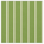 [ Thumbnail: Pale Goldenrod and Green Lines Pattern Fabric ]