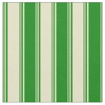 [ Thumbnail: Pale Goldenrod and Green Pattern Fabric ]
