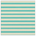 [ Thumbnail: Pale Goldenrod and Light Sea Green Pattern Fabric ]